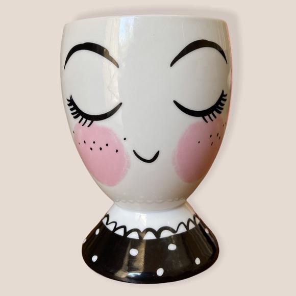 Threshold Face Porcelain Planter Pencil Brush Cup